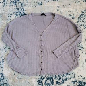 Gray Urban Outfitters waffel thermal top